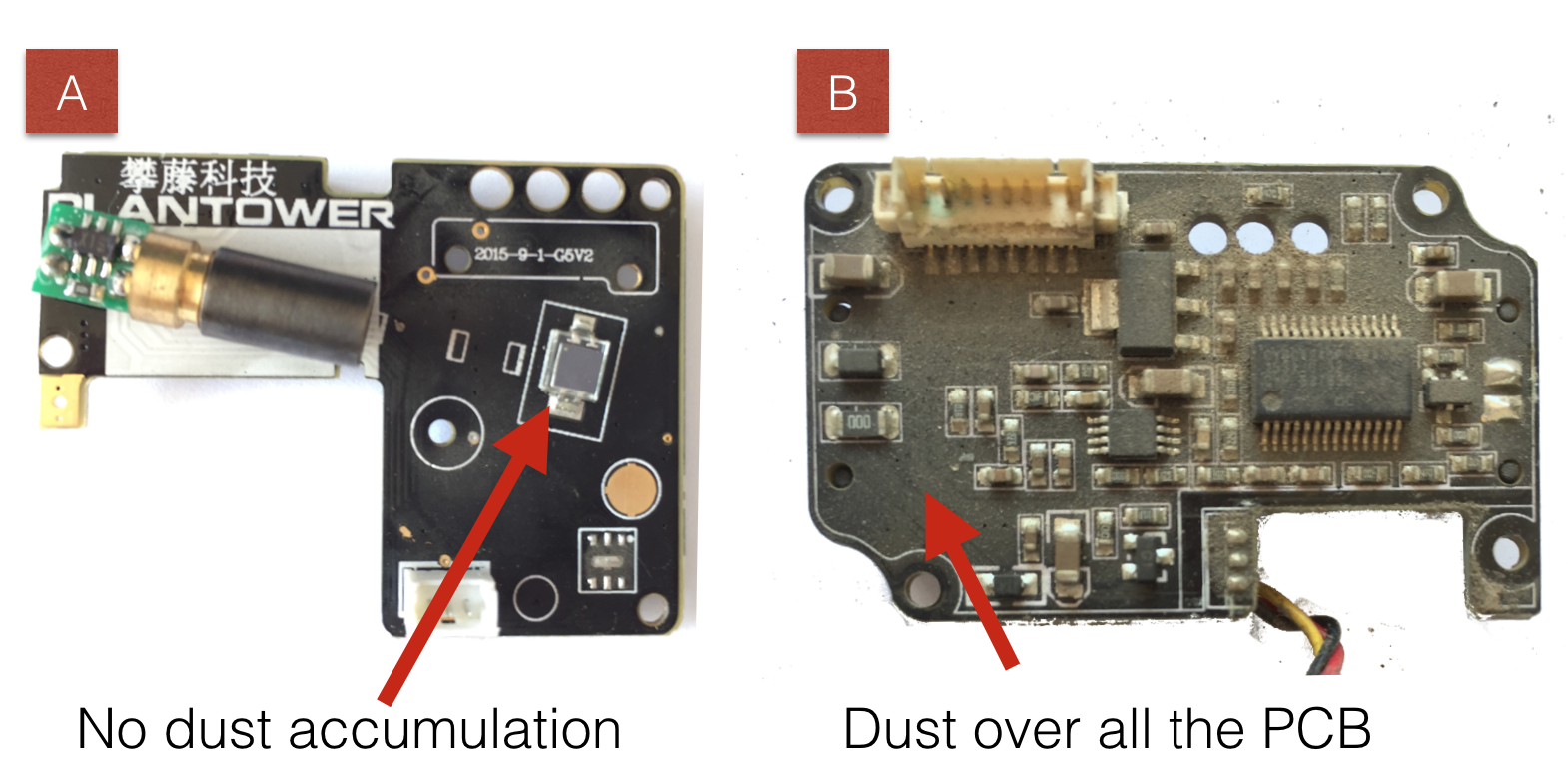The Plantower PMS5003 and PMS7003 Air Quality Sensor experiment